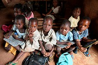 Primary school in Africa, Hevie, Benin, West Africa, Africa