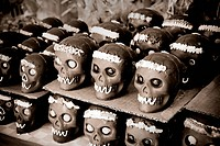 set of chocolate skull, dia de muertos