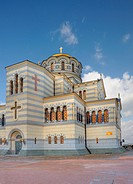 Church. The orthodox church located in Sevastopol, Crimea, Ukraine