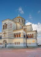 Church. The orthodox church located in Sevastopol, Crimea, Ukraine