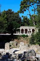 The public garden of ´La colline du château´, Nice, Alpes-Maritimes, French Riviera, Provence-Alpes-Côte d´Azur, France