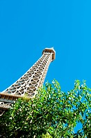 Eiffel tower on the bright summer day
