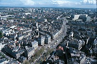 Aerial view of Nantes - Pays de la Loire, France