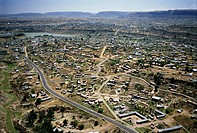 Aerial view of Maseru, Lesotho