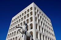 Palazzo della Civilta Italiana, EUR, Rome, Lazio, Italy, Europe