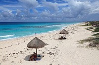 Public beach on the east coast, Cozumel Island Isla de Cozumel, Quintana Roo, Mexico, Caribbean, North America