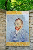 Self portrait of Vincent Van Gogh, Saint Paul de Mausole monastery, mental hospital, stay of Vincent Van Gogh, museum, Saint Remy de Provence, Provenc...