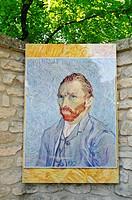Self portrait of Vincent Van Gogh, Saint Paul de Mausole monastery, mental hospital, stay of Vincent Van Gogh, museum, Saint Remy de Provence, Provenc...