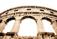 details of colosseum _ great italian landmarks series