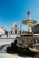 Italy - Tuscany Region - Florence (UNESCO World Heritage List, 1982). Piazza Santa Croce.