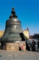 Russia - Moscow. Kremlin (UNESCO World Heritage List, 1990). Tsar Bell, cast 1733-1735