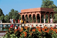 Pakistan - Punjab - Lahore. The Gardens of Shalimar or Shalamar (Heritage of Humanity 'UNESCO 1981), built by Mughal emperor Shah Jahan, the seventeen...