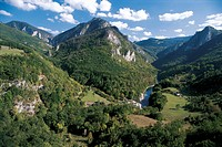 Montenegro - Durmitor National Park (UNESCO World Heritage List, 1980, 2005). Landscape around Tara River.