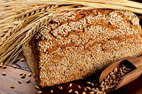 Close_up on traditional sesame bread