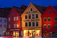 Bryggen or Tyskebryggen, Hanseatic Quarter, UNESCO World Heritage Site, Bergen, Hordaland, Norway, Scandinavia, Northern Europe, PublicGround