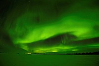 Northern Lights, aurora borealis above the Arctic, Hudson Bay, Manitoba, Canada