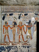 Egypt, Thebes (UNESCO World Heritage List, 1979) - Luxor. Valley of the Kings. West Valley. Tomb of Amenhotep III. Antechamber to burial chamber. Mura...
