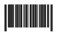 one barcode without numbers for customization 3d render