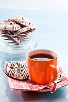 food series: sweet chocolate gingerbread and tea