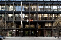 CITY OF LONDON 2010, UBS 1 Finsbury Avenue London, EC2M 2PP, ARUP ASSOCIATES, out side strait on from street with blurred movementLONDON, UNITED KINGD...