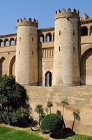 La Aljafería palace  Zaragoza  Aragón  Spain