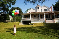 Girl with balloons ...