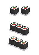 Illustrations of Sushi