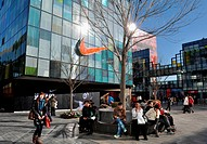 Asia, China, Beijing, Nike store in Sanlitun neighborhood                                                                                             ...