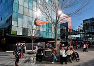 Asia, China, Beijing, Nike store in Sanlitun neighborhood ...