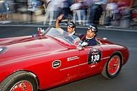 Vintage car, Ermini Sport 1100, built in 1952, Mille Miglia 2011, Desenzano del Garda, Lake Garda, Lombardy, Italy, Europe