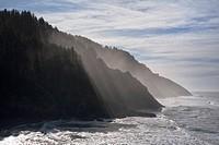 Cliffs and sea in bright sunshine