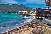 Coast in Saint Maarten Island, Dutch Antilles