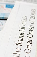 Newspaper headlines _ financial crisis on 2008