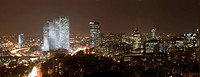 Panorama of Tel Aviv skyline at night, Israel