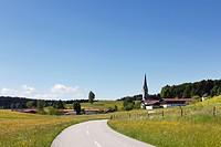 Reichersdorf, Irschenberg district, Oberland, Upper Bavaria, Bavaria, Germany, Europe, PublicGround