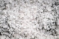 Macro of sea salt crystals