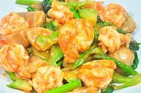 thai style spicy fried prawn