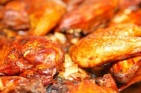 Closeup of BBQ chicken