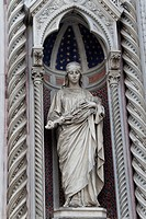 Saint Reparata the Martyr on the facade of Santa Maria del Fiore