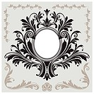 Floral Decoration Vignette, editable vector illustration