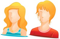 Blonde Avatars with Clipping Path