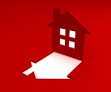 red house logo 3d render