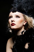 Woman's retro revival portrait. 30's of the XX century. Professional makeup