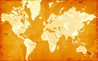 Computer designed highly detailed grunge world map background