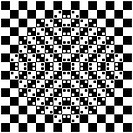 Black and white tiles with 3d effect