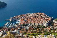 Cityscape, harbour, coast, Dubrovnik, Dalmatia, Croatia, Europe