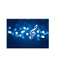 Musical Icon on Lens Flare BackgroundOriginal Vector IllustrationHoliday Background