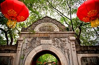 Stone Gate Garden Red Lanterns Prince Gong´s Mansion, Beijing China Built during Emperor Qianlong Reign