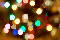 A shot of blurred colorful christmas lights