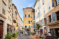 commercial Street in Grasse Provence France with